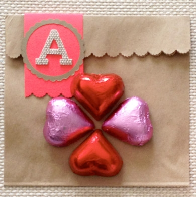 DIY Monogrammed Valentine's Treat Bags