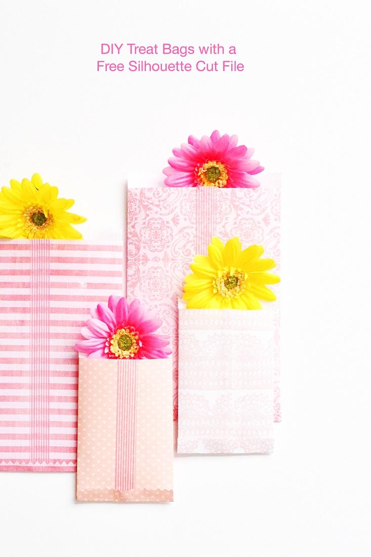 DIY Treat Bags - Maritza Lisa - Free Silhouette Cut File Download - Silhouette CAMEO - Paper Crafts - DIY Gifts - DIY Packages - Silhouette CAMEO project - Freebie - Free stuff