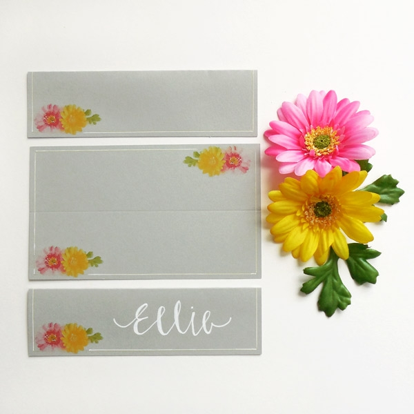 DIY Watercolor Place Cards