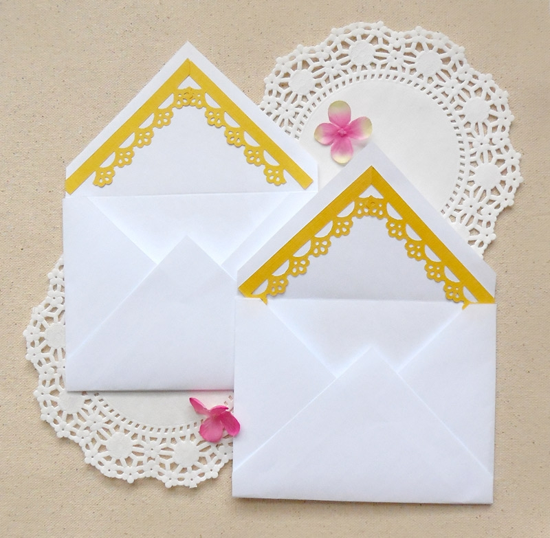 DIY Envelope Lining with Paper Punches