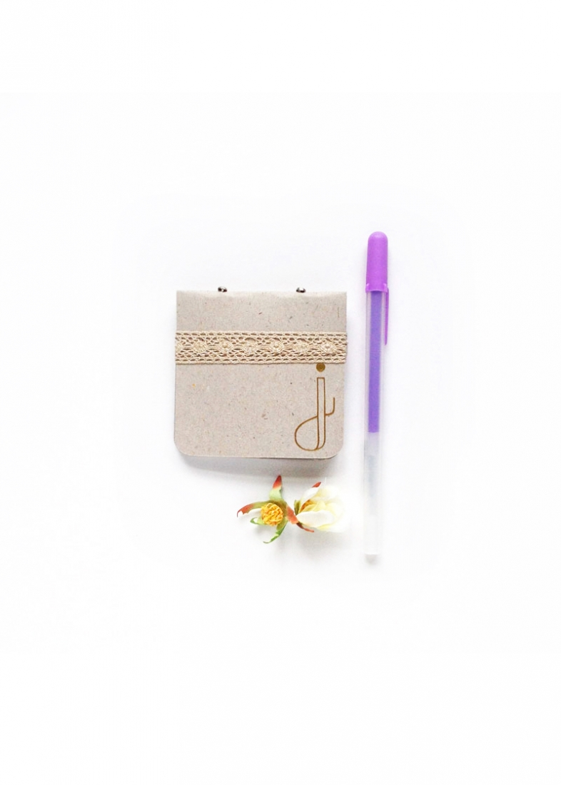 DIY Mini Monogrammed Notebooks - Maritza Lisa