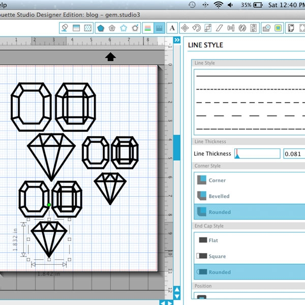 "DIY 3d Gems - Maritza Lisa: Add that extra ""sparkle"" to your gifts with these 3d gemstones. Click through for the tutorial"