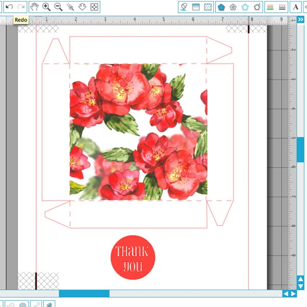 DIY Watercolor Floral Gift Box - Maritza Lisa: Use this shape from Silhouette America to create these elegant watercolor gift boxes. Click through for the tutorial...