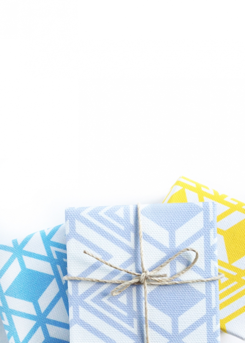 DIY Fabric Gift Boxes with Geometric Patterns - Maritza Lisa: A geo pattern that can be used to create fabric gift boxes. Click through to create your own unique boxes with Silhouette America's printable cotton canvas