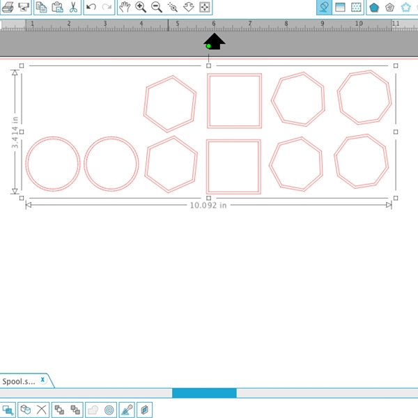step2 - DIY Geometric Spools with the Silhouette CAMEO