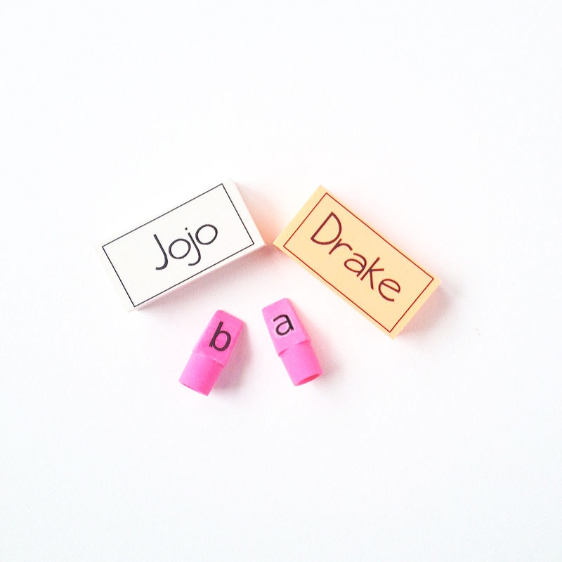 DIY Personalized Erasers - Maritza Lisa