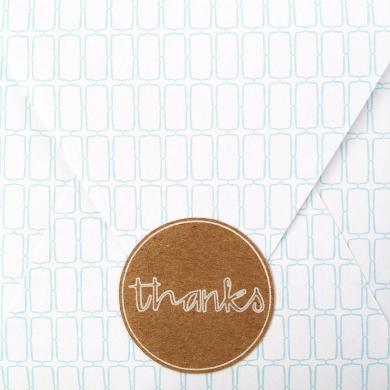 DIY Thanks Label - Maritza Lisa