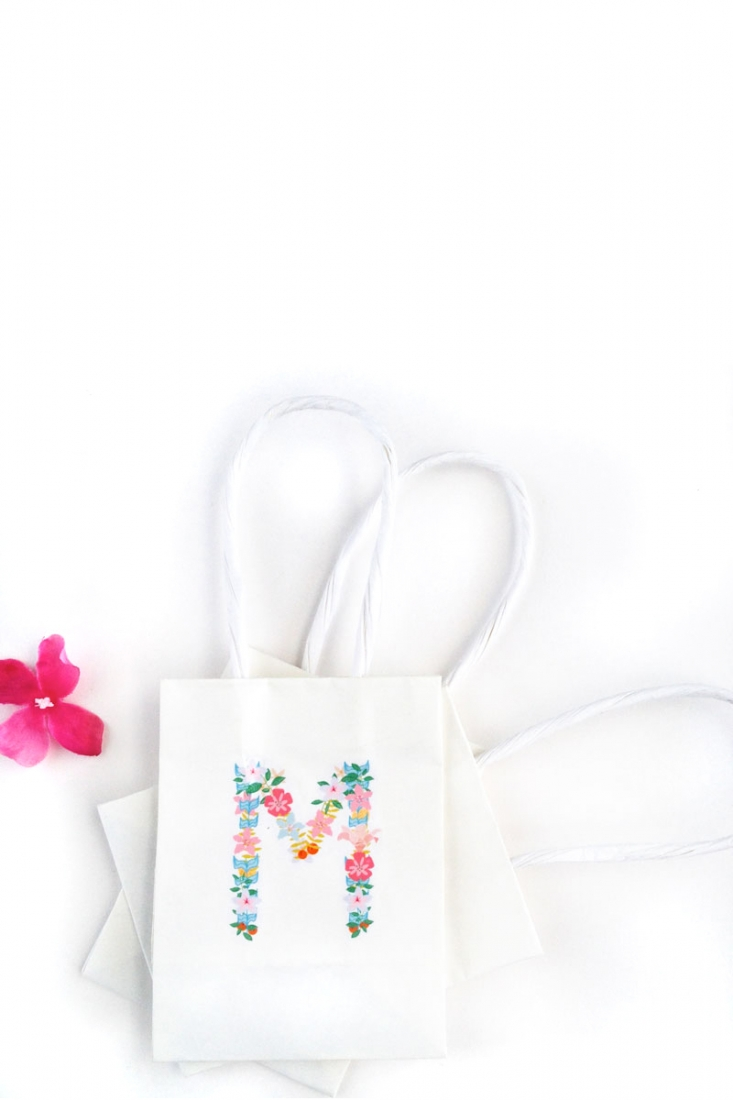 DIY Floral Monograms With Tattoo Paper - Maritza Lisa