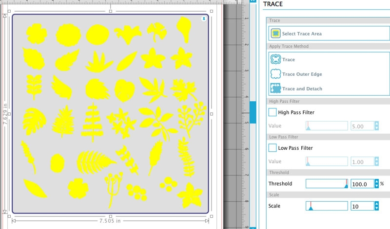 Create your own Printed Floral Monograms with Silhouette's Tattoo Paper