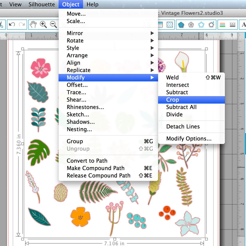 Trace and Modify Floral Images to Make Monograms with Your Silhouette