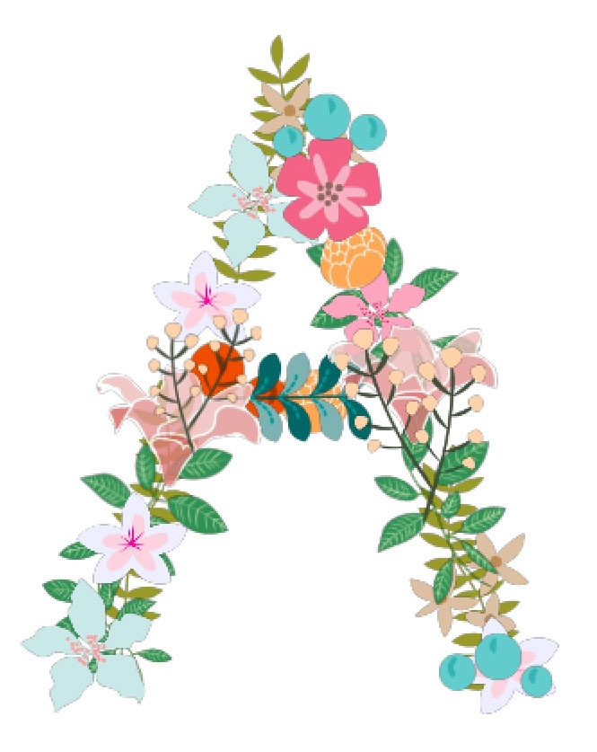 Create your own Floral Monograms in Silhouette Studio