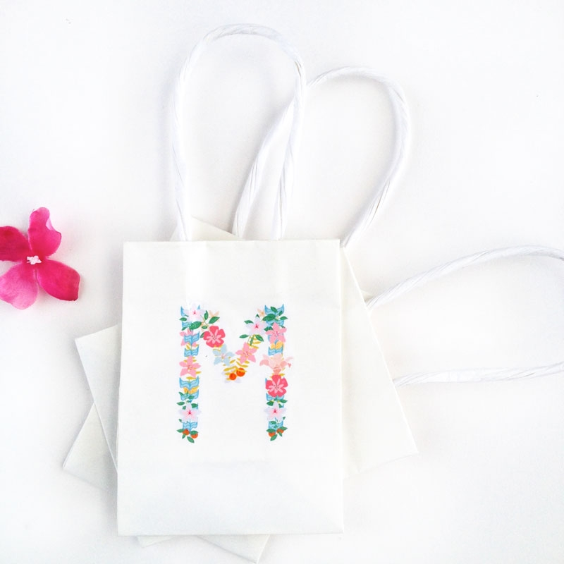 Create your own Floral Monograms with Silhouette's Tattoo Paper