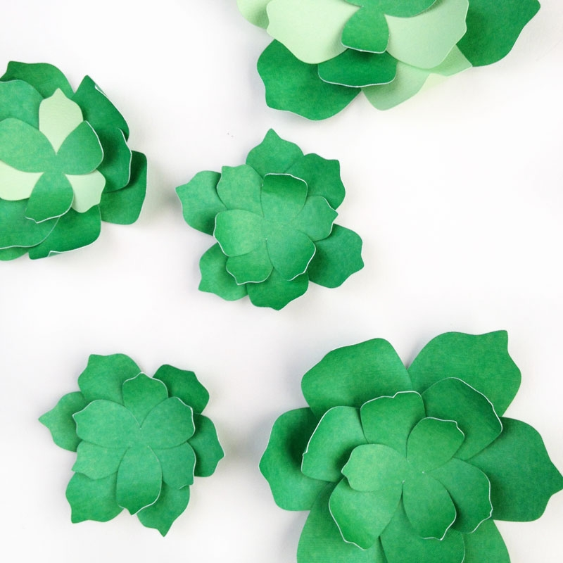 DIY Paper Succulents - Maritza Lisa: Want to create your own paper succulents? Use these free PDF and cut file to create your own. Click through for the tutorial...