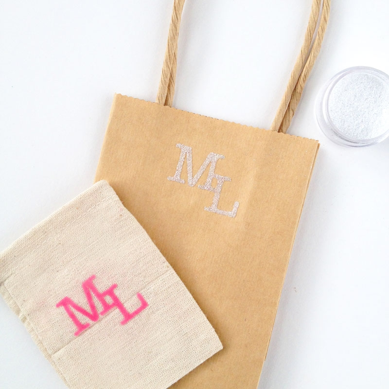 DIY Textured Monograms with Silhouette's Double Sided Starter Kit