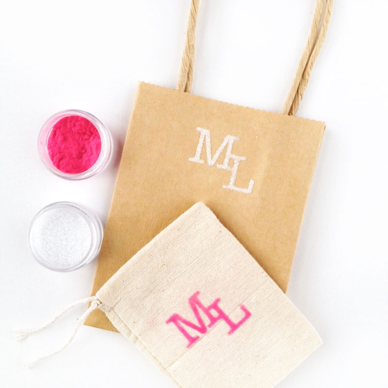 Textured Monograms with Silhouette's Double Sided Starter Kit