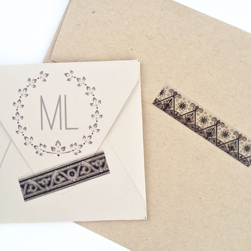 DIY Vintage Decorative Tape - Maritza Lisa: Did you know that you can create your own decorative tape with clear sticker paper? Click through to make your own!