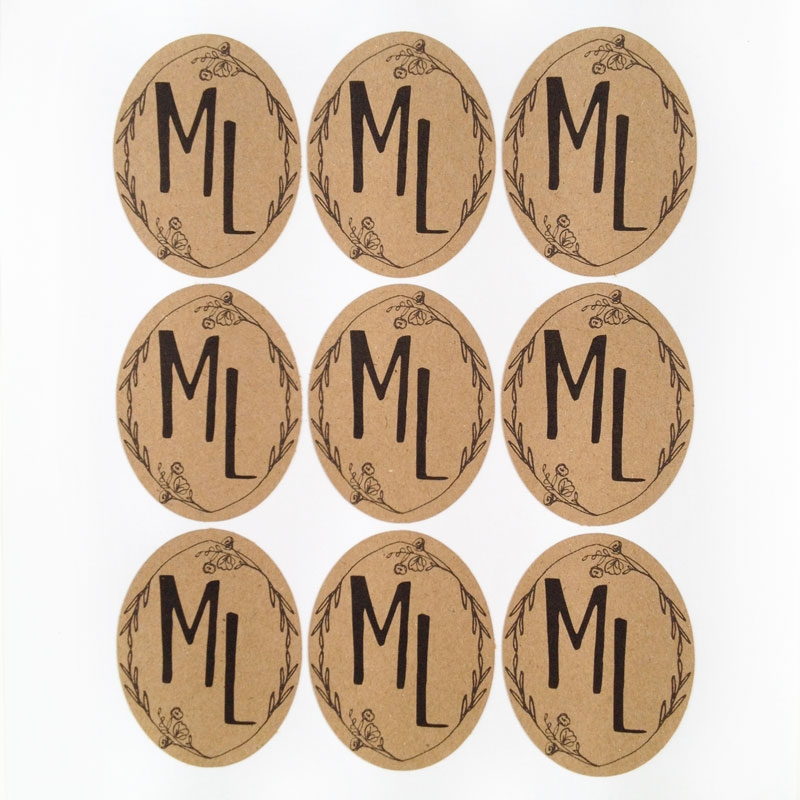 DIY Monograms - Design Your Own Monogram with Flowers and Laurels