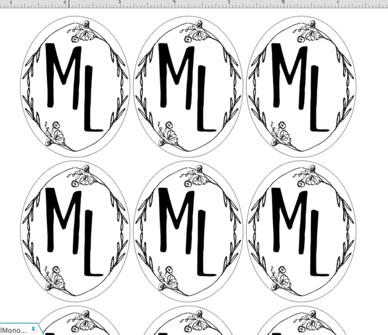 DIY Monograms - Print and cut your own monograms with this Silhouette project