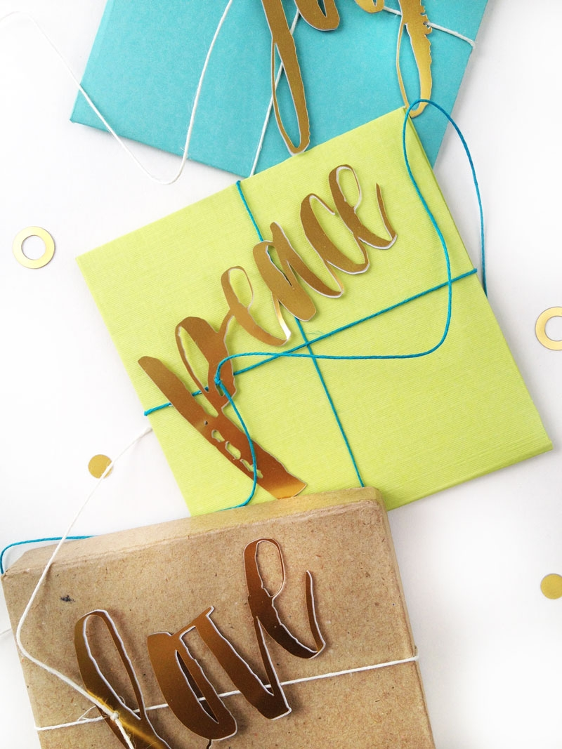 Create these Festive Gift Embellishments with a hand-lettered font