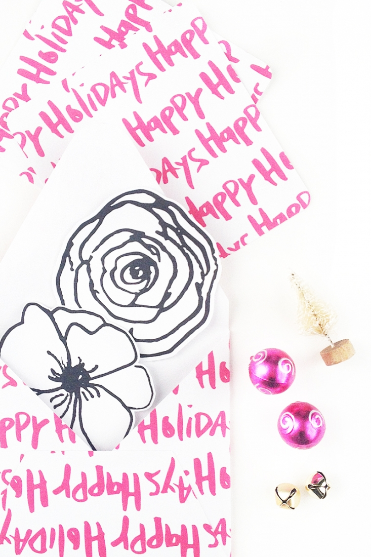 DIY Holiday Envelopes - Maritza Lisa: Looking for some last minute DIY Holiday envelopes to make then send to loved ones? Click through to make these inside-out envelopes!