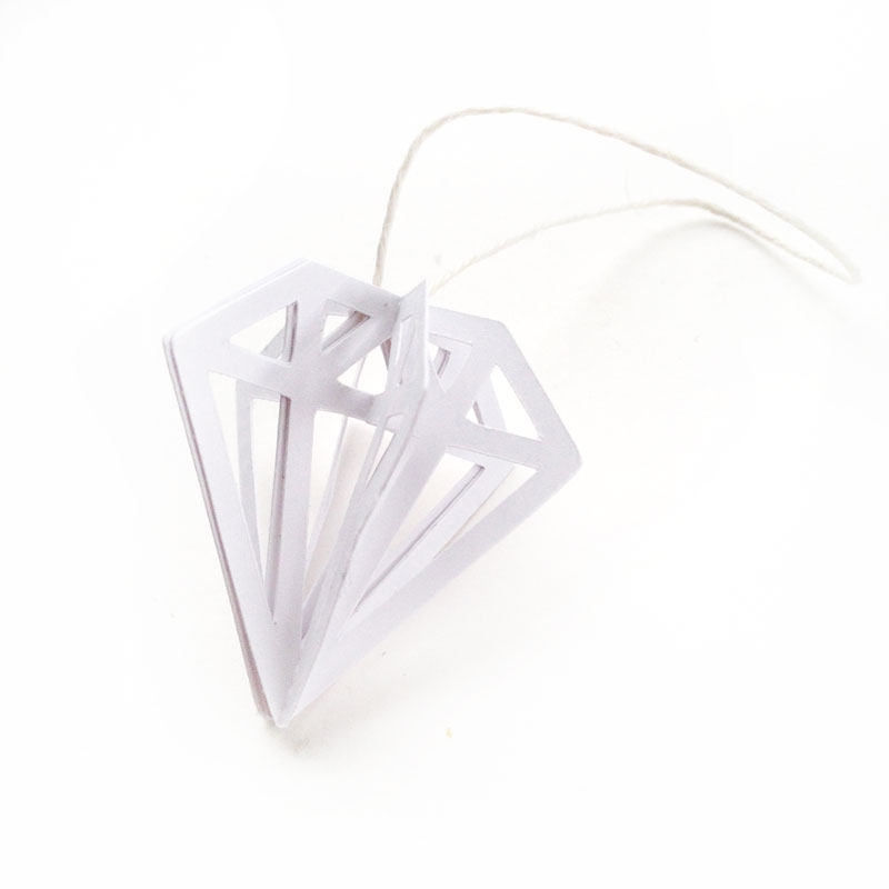 DIY 3d Gem Ornaments  - perfect for your tree and gifts!