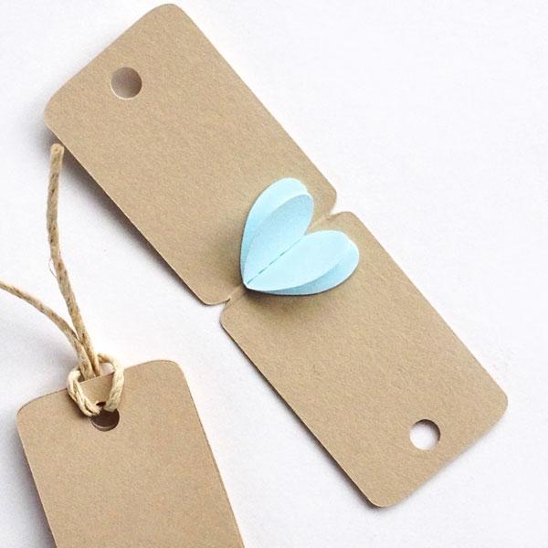 Best of 2014 - DIY 3d Mini Heart Tags