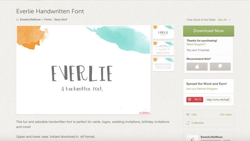 Font Love - Everlie