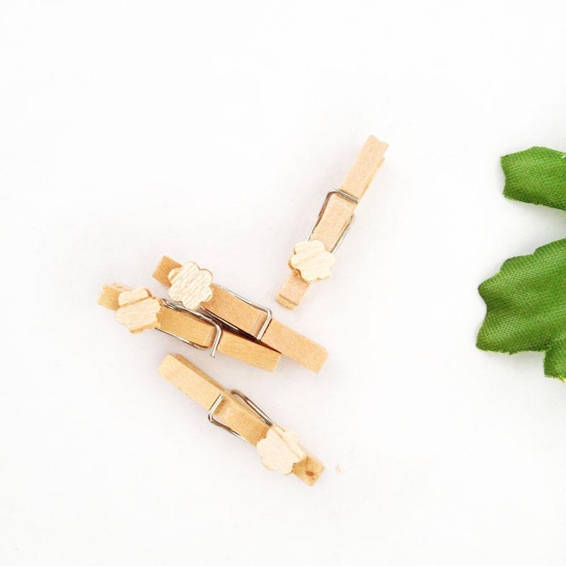 diy wooden flower clothespins