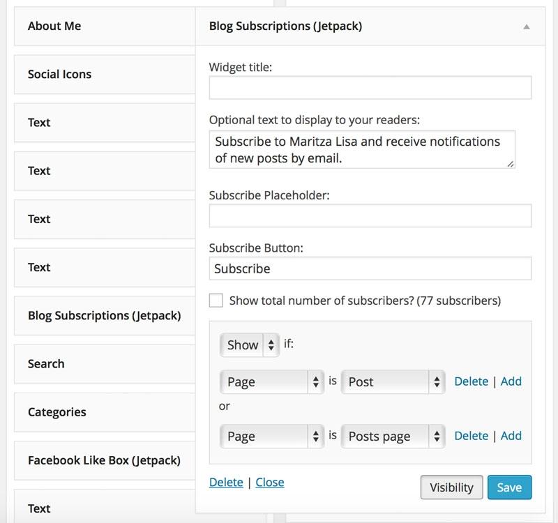 Wordpress Tips - Footer and Sidebar Visibility