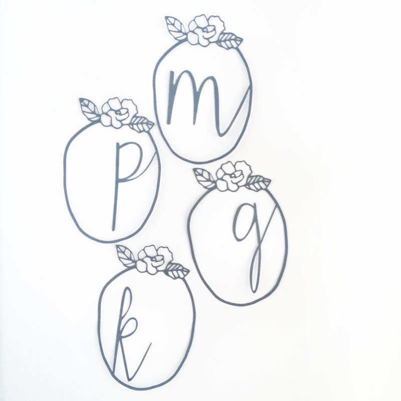 DIY Framed Monogrammed Tags - Maritza Lisa: This tutorial will be a perfect diy tag project for all your Mother's Day and Easter packages. Click through to make your own...
