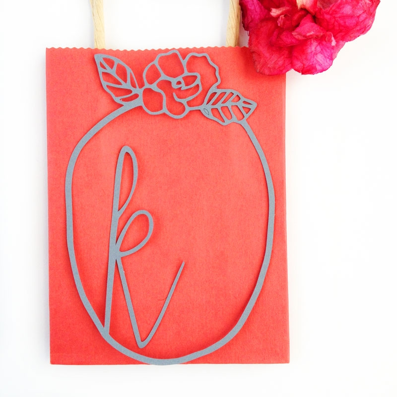 DIY Stationery - Use these free frames to create your own monogrammed tags
