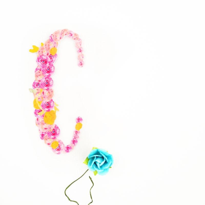 DIY Floral Monogrammed Tags - Maritza Lisa