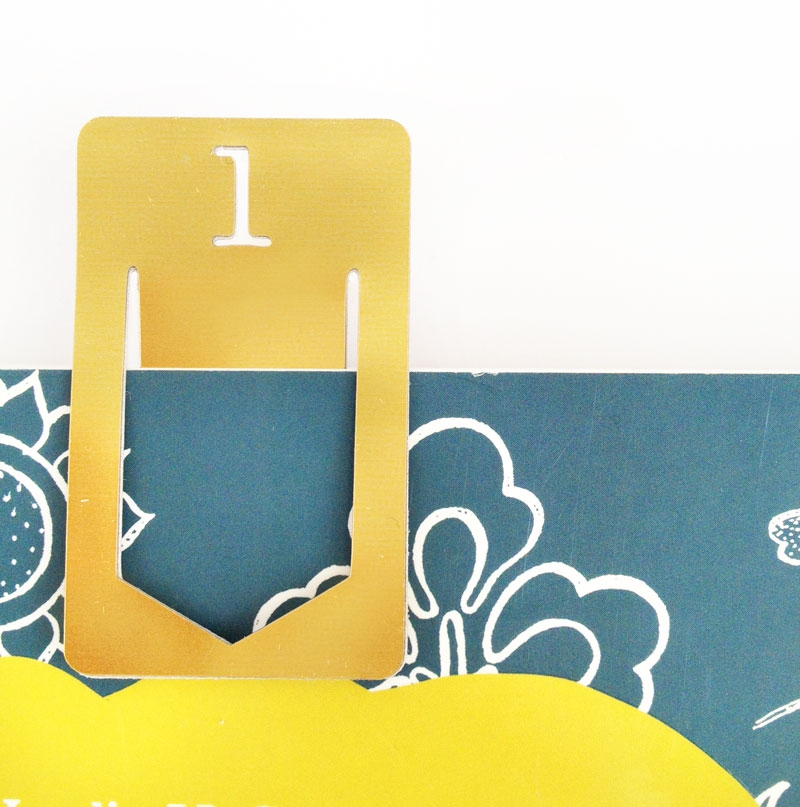 DIY Stationery - Gold Index Clips