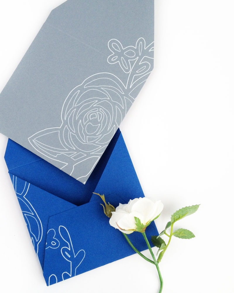 DIY Stationery - Create Your Own Floral Envelopes