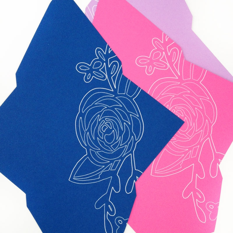 DIY Stationery - Create Your Own Floral Envelopes with the Silhouette Pen Holder or Sketch Pens