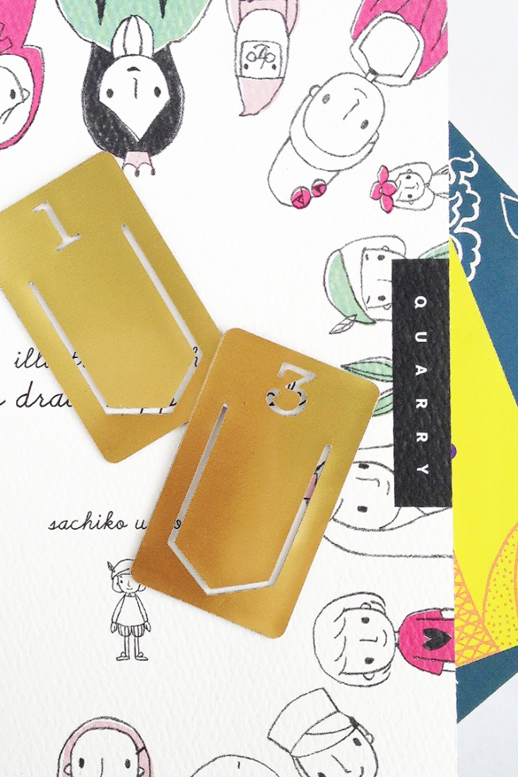 DIY Stationery - Gold Index Clips on Maritza Lisa - Need a little organization in your life? Why not create your own Gold Index Clips? These are perfect for your home office!