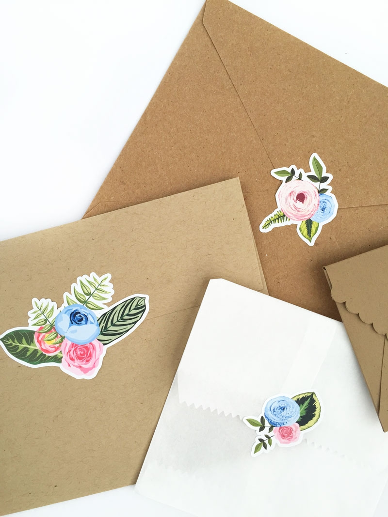 Create Your Own Floral Stickers - Maritza Lisa: Create your own floral stickers using the print and cut feature of your Silhouette cutting tool. Click through for the tutorial | DIY Stationery | DIY Floral Seals | DIY Floral Stickers