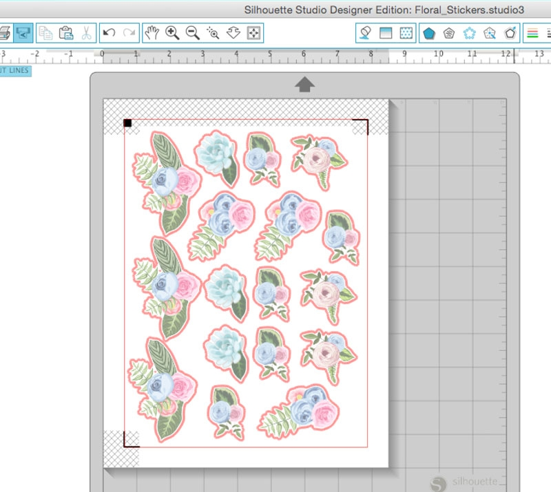 DIY Floral Stickers - Maritza Lisa: Create your own floral stickers using the print and cut feature of your Silhouette cutting tool. Click through for the tutorial | DIY Stationery | DIY Floral Seals | Silhouette Studio
