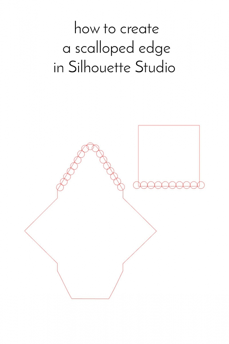 Learn how to make a scalloped edge in Silhouette Studio!