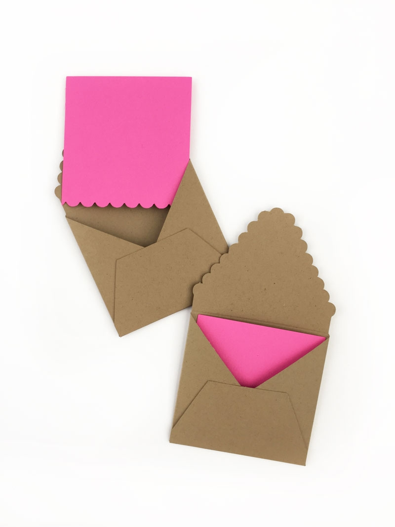 Create Your Own Scalloped Tag Set - Maritza Lisa: Add a scalloped edge to your DIY stationery with this mini scalloped tag set how-to. Click through for the full tutorial...