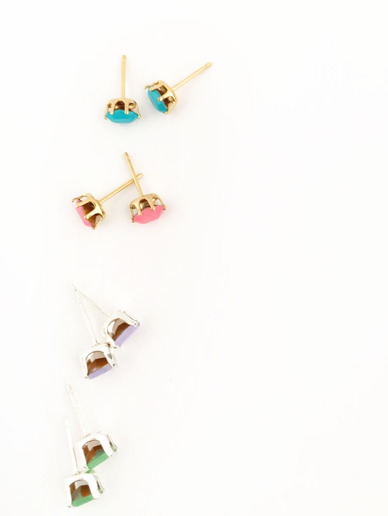 Easy DIY Jewelry on Maritza Lisa: Create Your Own Stud Earrings with Brightly Colored Gems . This easy tutorial is perfect and takes no time to make as gifts or for yourself. Click through to make your own...No tools required!