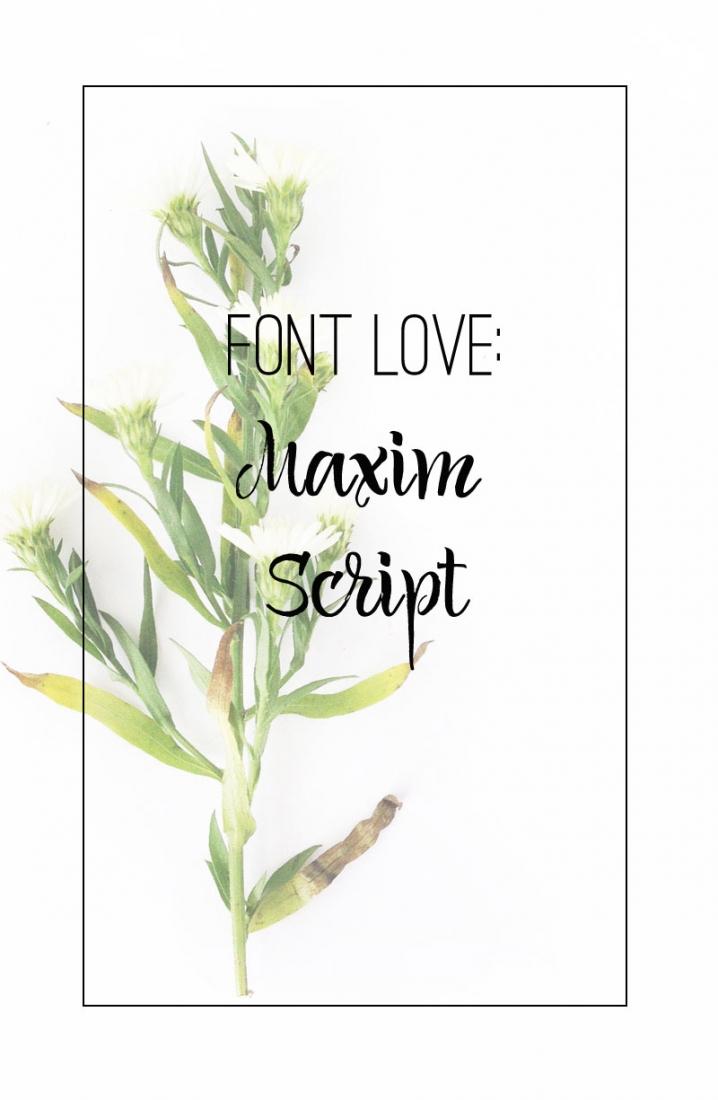Font Love - Maxim Script