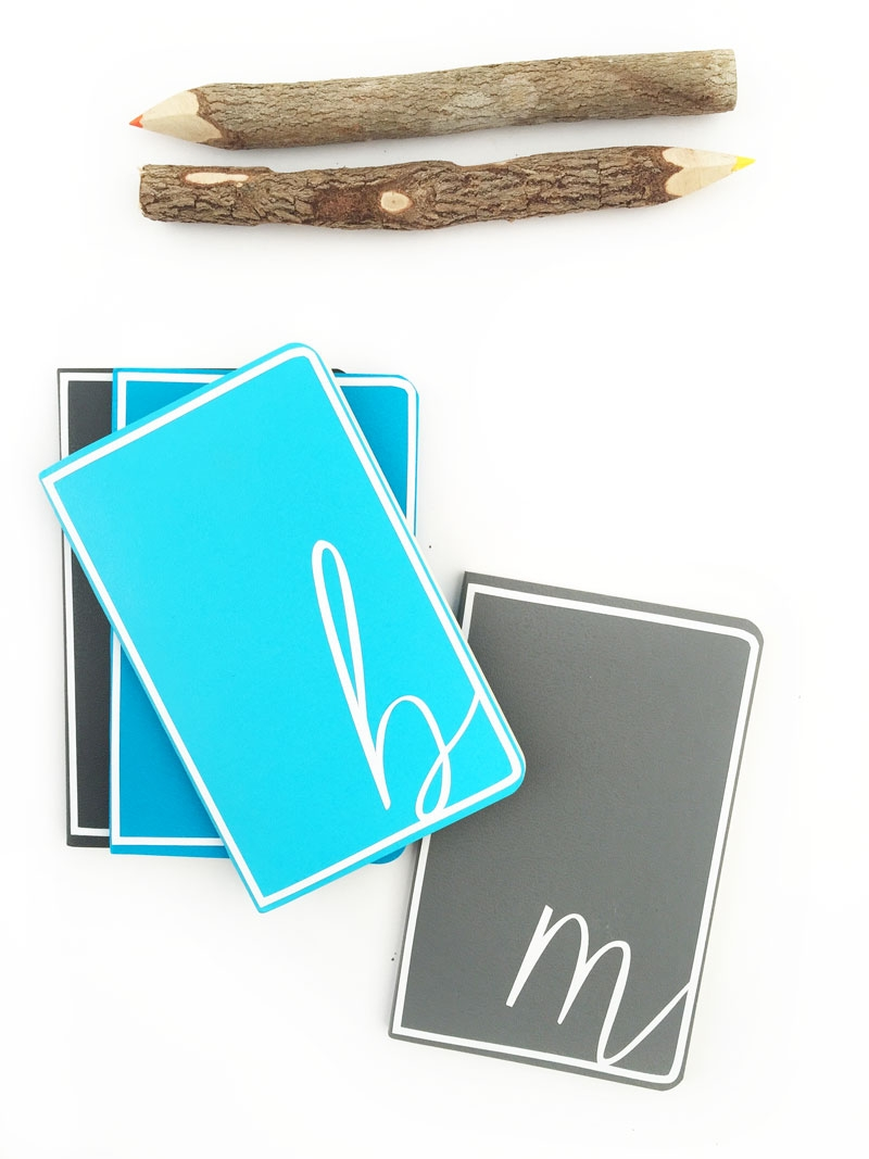 DIY Monogrammed Notebooks - Perfect for your office notes or back to school - Maritza Lisa