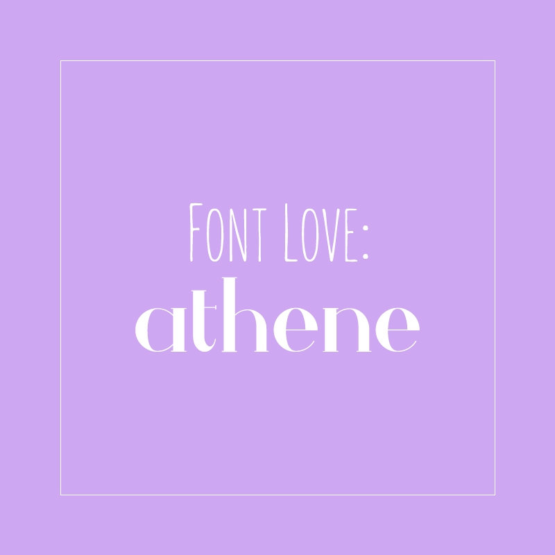 Font Love - Athene - A Free Typeface