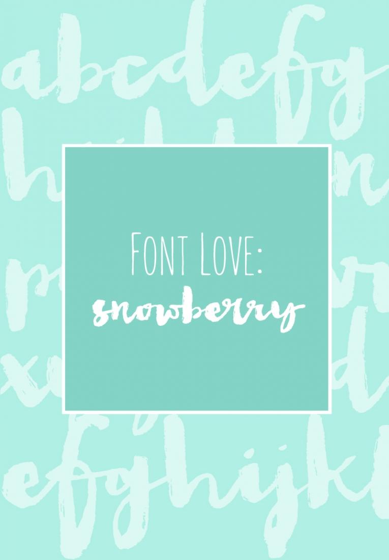 Font Love - Snowberry