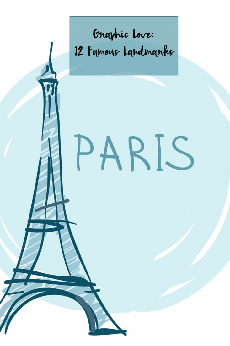 12 Famous Landmarks - Vector Design Elements