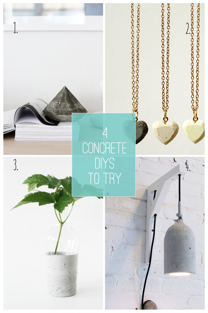 4 Concrete DIYs To Try - Maritza Lisa: Take a look at this round up to add concrete touches to your home and personal style. Click through for the details and links to the tutorials