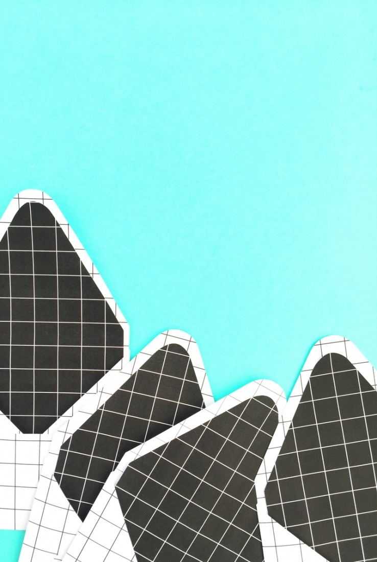DIY Grid Envelope Liners - Maritza Lisa