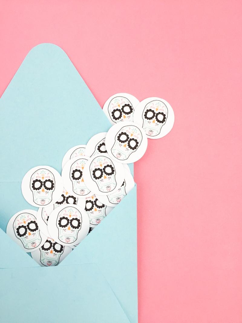DIY Sugar Skull Seals - Maritza Lisa