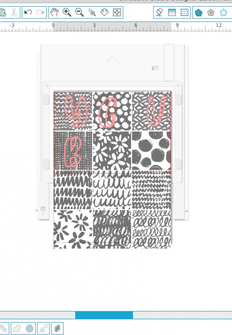DIY Patterned Monogrammed Tags - Maritza Lisa: Use these lovely black and white and patterns and this free font to create these modern monogrammed tags for your gifts and packages. Click through for the tutorial...